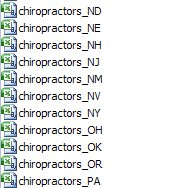 chiropractor email lists - chiropractor latabase - Chiropractor email addresses in excel spreadsheet